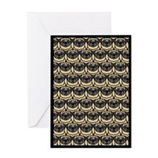 Passel of Pugs Greeting Card