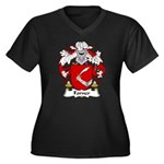 Forner Family Crest Women's Plus Size V-Neck Dark