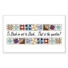 Quilters Rectangle Bumper Stickers