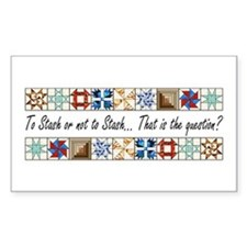 Quilters Rectangle Stickers