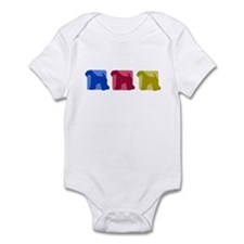 Color Row Kerry Blue Terrier Baby Bodysuit