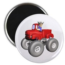"Red Monster Truck 2.25"" Magnet (10 pack)"