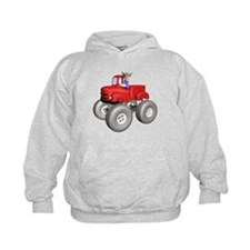 Red Monster Truck Hoodie