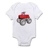 Red Monster Truck Infant Bodysuit