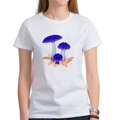 Blue Mushrooms Women's T-Shirt