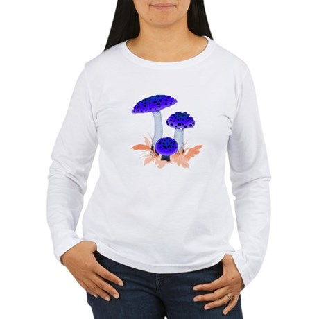 Blue Mushrooms Women's Long Sleeve T-Shirt