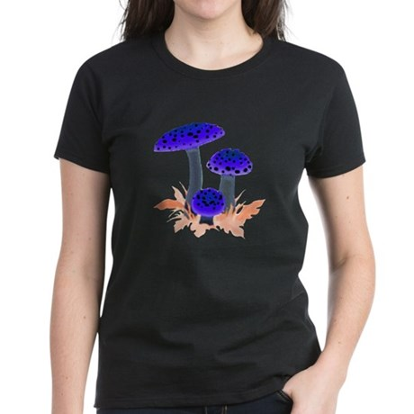 Blue Mushrooms Women's Dark T-Shirt