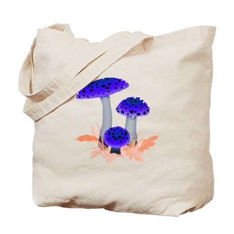 Blue Mushrooms Tote Bag