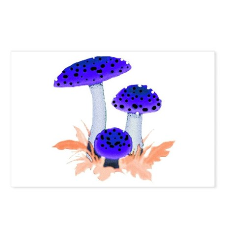 Blue Mushrooms Postcards (Package of 8)