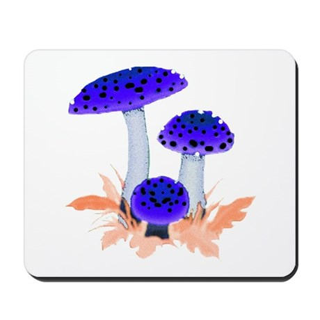 Blue Mushrooms Mousepad