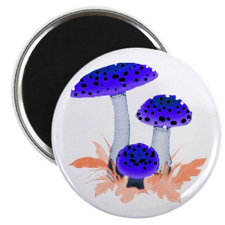 "Blue Mushrooms 2.25"" Magnet (100 pack)"