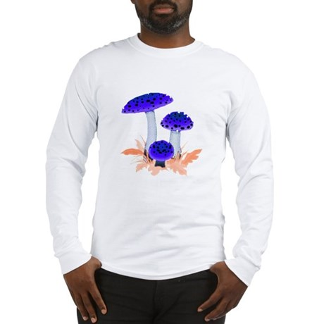 Blue Mushrooms Long Sleeve T-Shirt
