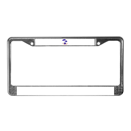 Blue Mushrooms License Plate Frame