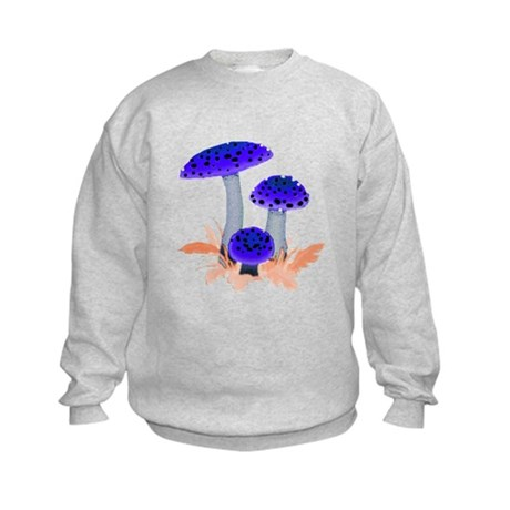 Blue Mushrooms Kids Sweatshirt