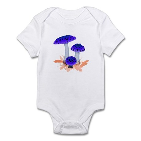 Blue Mushrooms Infant Bodysuit