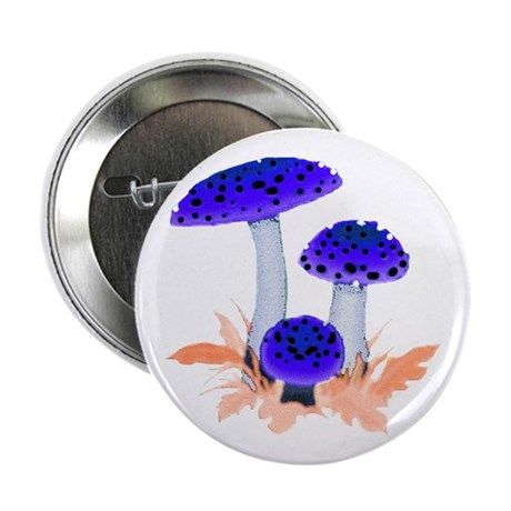 "Blue Mushrooms 2.25"" Button (10 pack)"