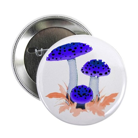 Blue Mushrooms Button
