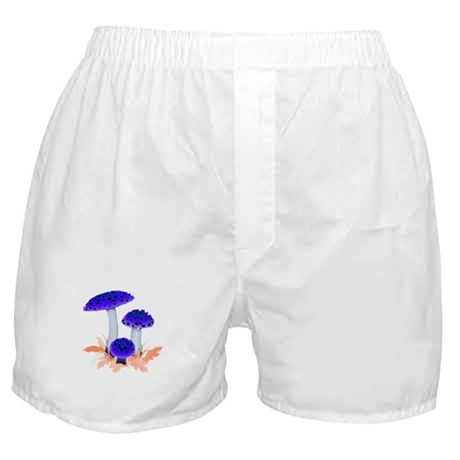 Blue Mushrooms Boxer Shorts