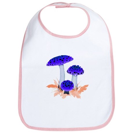 Blue Mushrooms Bib