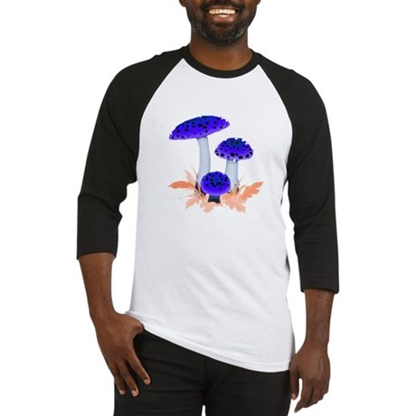 Blue Mushrooms Baseball Jersey