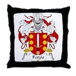 Feijoo Family Crest Throw Pillow