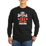 Feijoo Family Crest Long Sleeve Dark T-Shirt