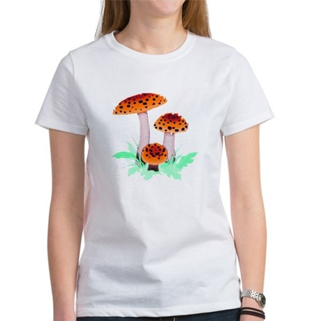 Orange Mushrooms Women's T-Shirt