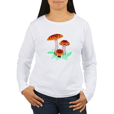 Orange Mushrooms Women's Long Sleeve T-Shirt