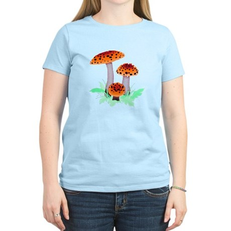 Orange Mushrooms Women's Light T-Shirt