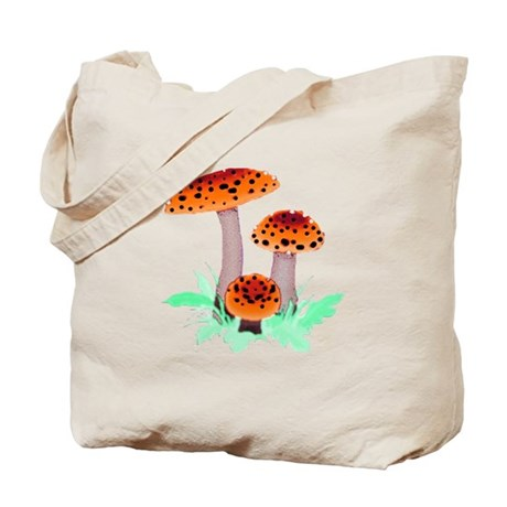 Orange Mushrooms Tote Bag