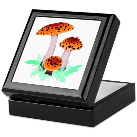 Orange Mushrooms Keepsake Box