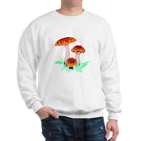 Orange Mushrooms Sweatshirt