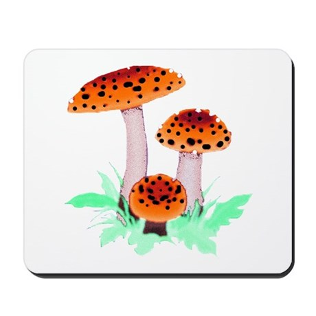 Orange Mushrooms Mousepad