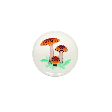 Orange Mushrooms Mini Button (10 pack)