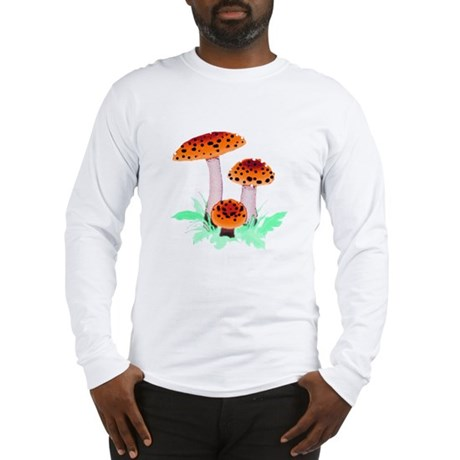 Orange Mushrooms Long Sleeve T-Shirt