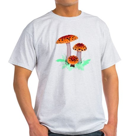 Orange Mushrooms Light T-Shirt