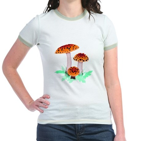 Orange Mushrooms Jr. Ringer T-Shirt