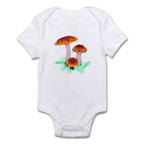 Orange Mushrooms Infant Bodysuit