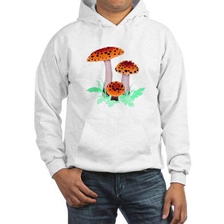 Orange Mushrooms Hooded Sweatshirt