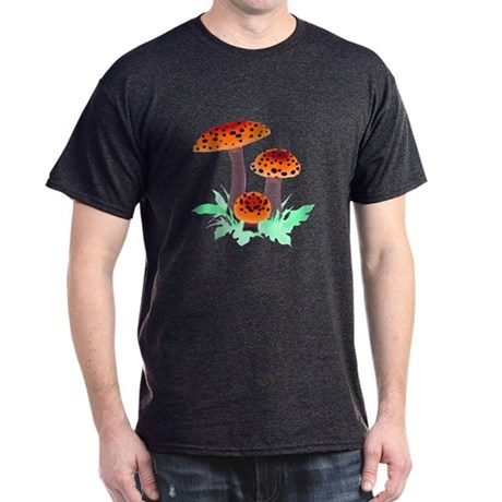Orange Mushrooms Dark T-Shirt