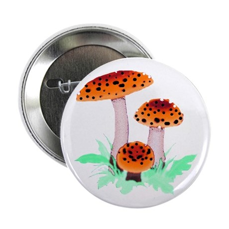 Orange Mushrooms 2.25&quot; Button (10 pack)