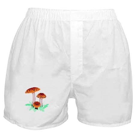 Orange Mushrooms Boxer Shorts