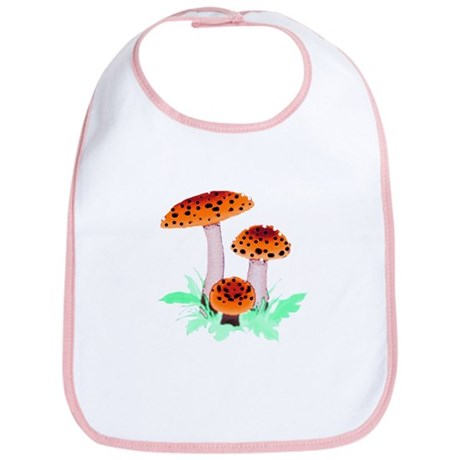 Orange Mushrooms Bib