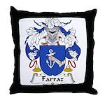 Farraz Family Crest Throw Pillow