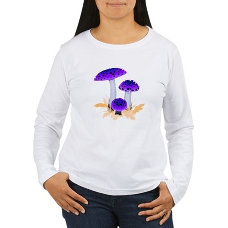 Purple Mushrooms Women's Long Sleeve T-Shirt
