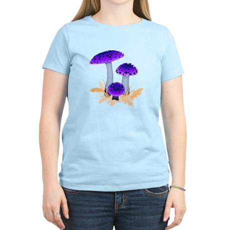 Purple Mushrooms Women's Light T-Shirt