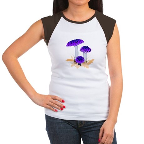 Purple Mushrooms Women's Cap Sleeve T-Shirt
