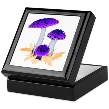 Purple Mushrooms Keepsake Box