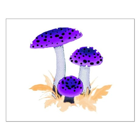 Purple Mushrooms Small Poster