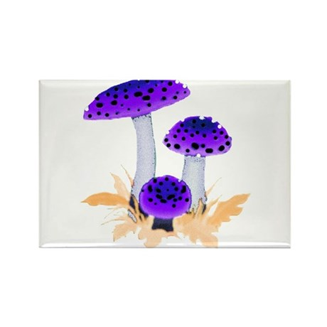 Purple Mushrooms Rectangle Magnet